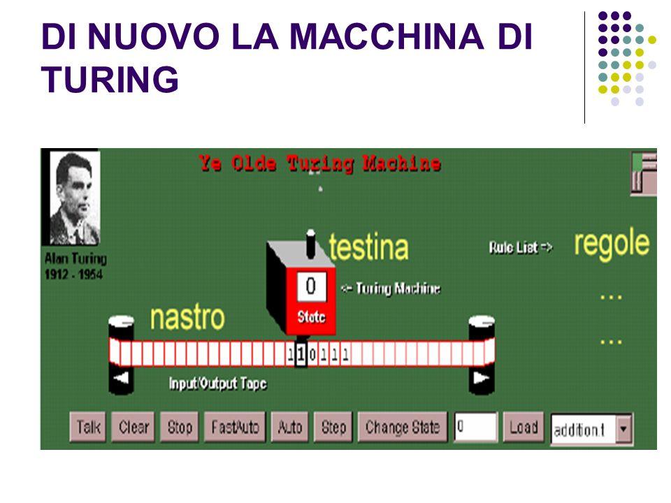 Dalla macchina di Turing alla architettura di von Neumann Un passo ulteriore, volendoci avvicinare al funzionamento di un vero computer, è costituito dalla ARCHITETTURA DI VON NEUMANN