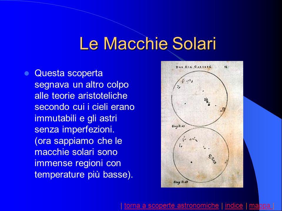 | torna a scoperte astronomiche | indice | mappa |torna a scoperte astronomicheindicemappa Questa scoperta segnava un altro colpo alle teorie aristote