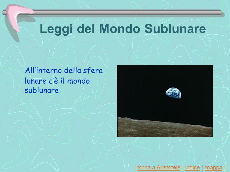   torna a Aristotele   indice   mappa  torna a Aristoteleindicemappa Leggi del Mondo Sublunare Allinterno della sfera lunare cè il mondo sublunare.