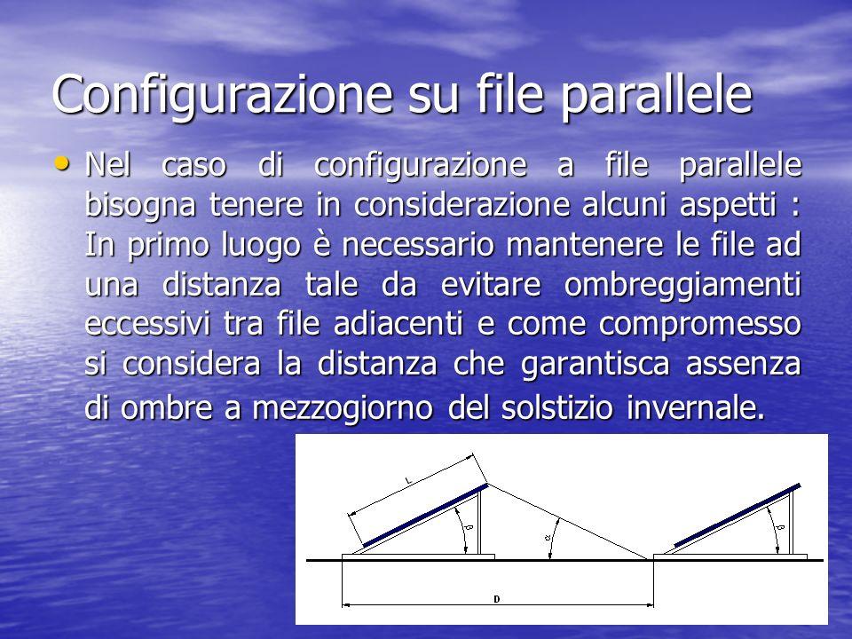 10 Configurazione su file parallele Nel caso di configurazione a file parallele bisogna tenere in considerazione alcuni aspetti : In primo luogo è nec