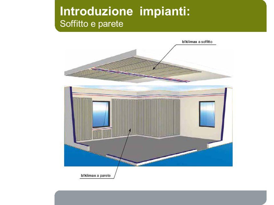 Introduzione impianti: Soffitto e parete