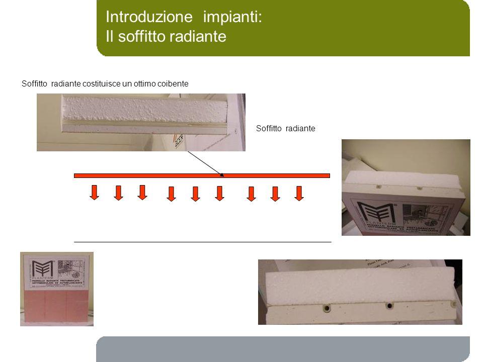 Introduzione impianti: Il soffitto radiante Soffitto radiante Soffitto radiante costituisce un ottimo coibente