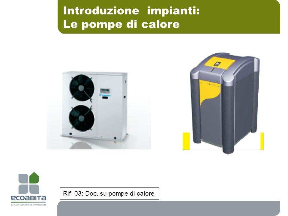 Introduzione impianti: Le pompe di calore Rif 03: Doc. su pompe di calore