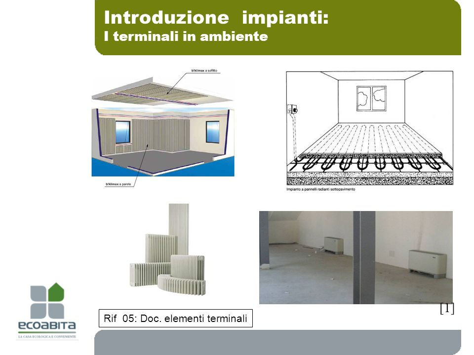 Introduzione impianti: I terminali in ambiente Rif 05: Doc. elementi terminali [1]