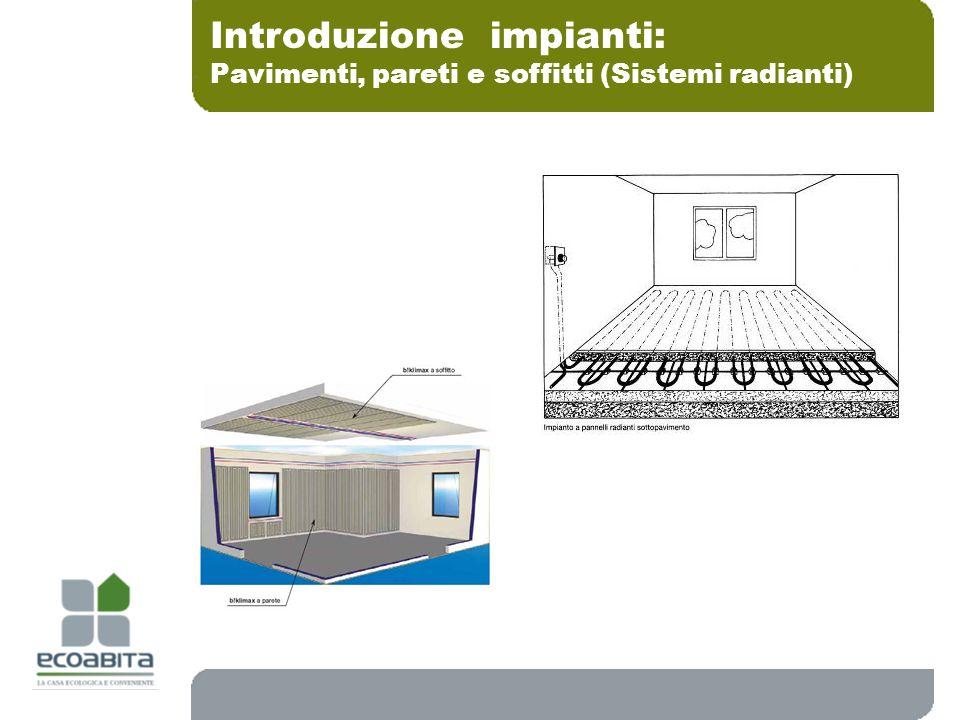 Introduzione impianti: Pavimenti, pareti e soffitti (Sistemi radianti)