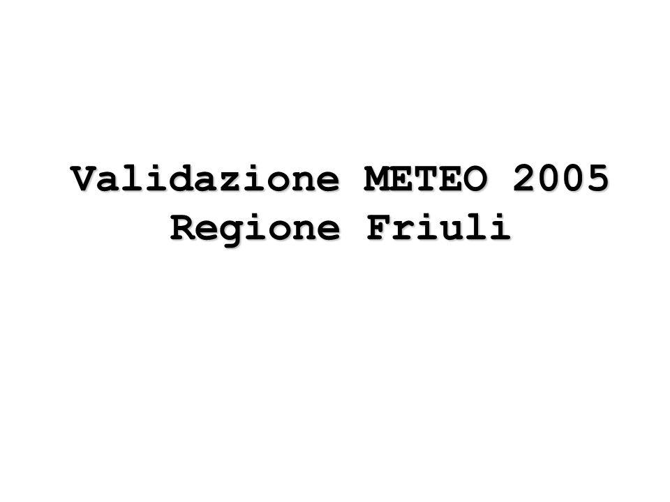 Validazione METEO 2005 Regione Friuli