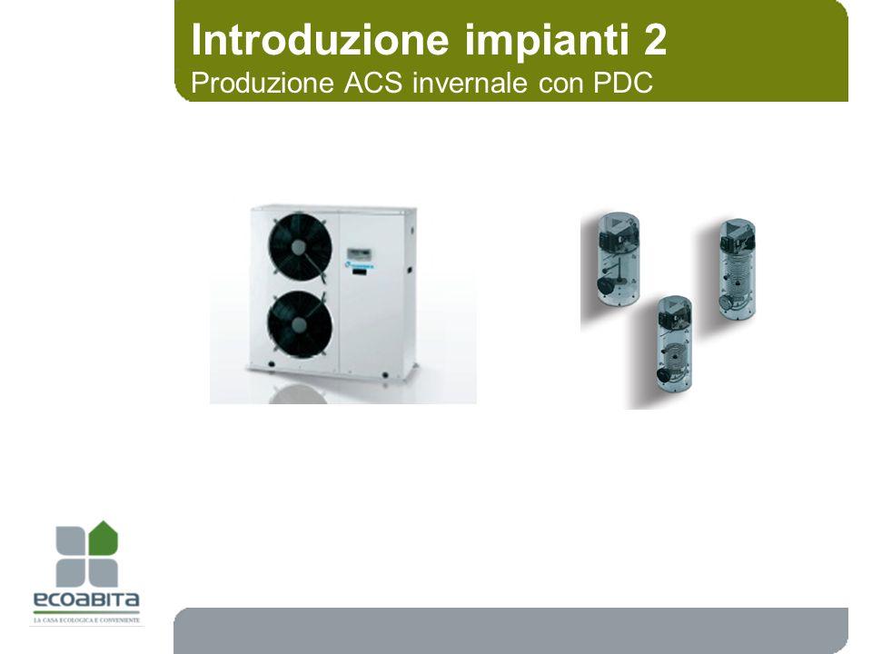 Introduzione impianti 2 Produzione ACS invernale con PDC