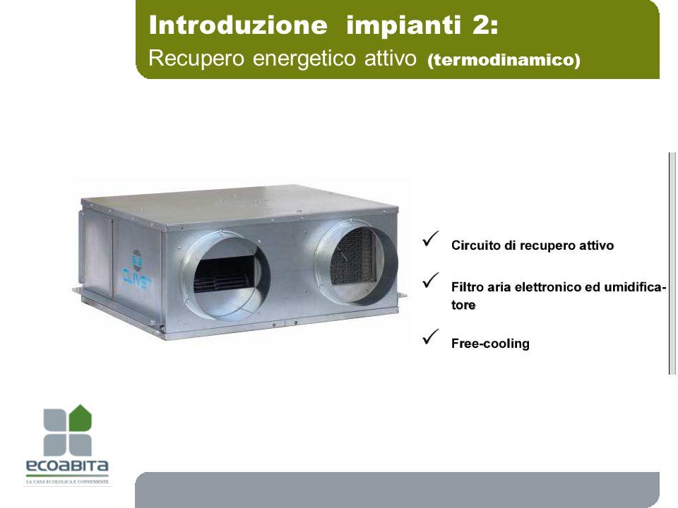 Introduzione impianti 2: Recupero energetico attivo (termodinamico)