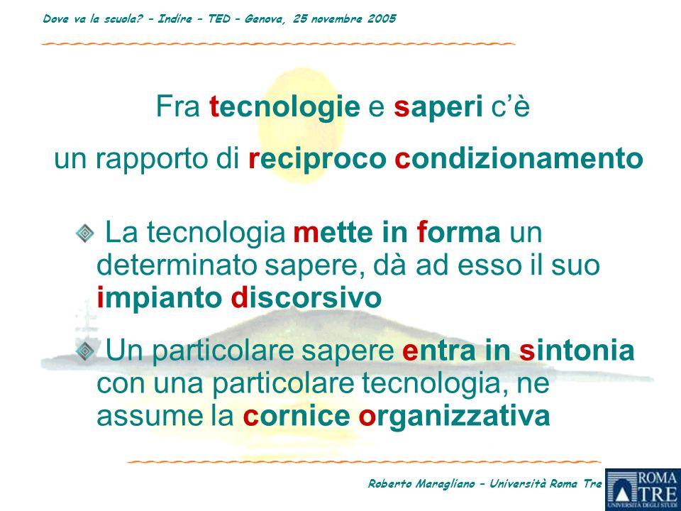 Roberto Maragliano – Università Roma Tre Dove va la scuola.