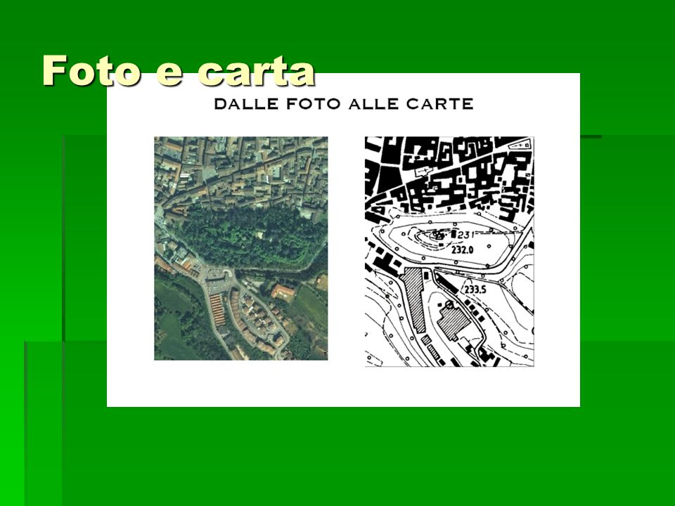 Foto e carta