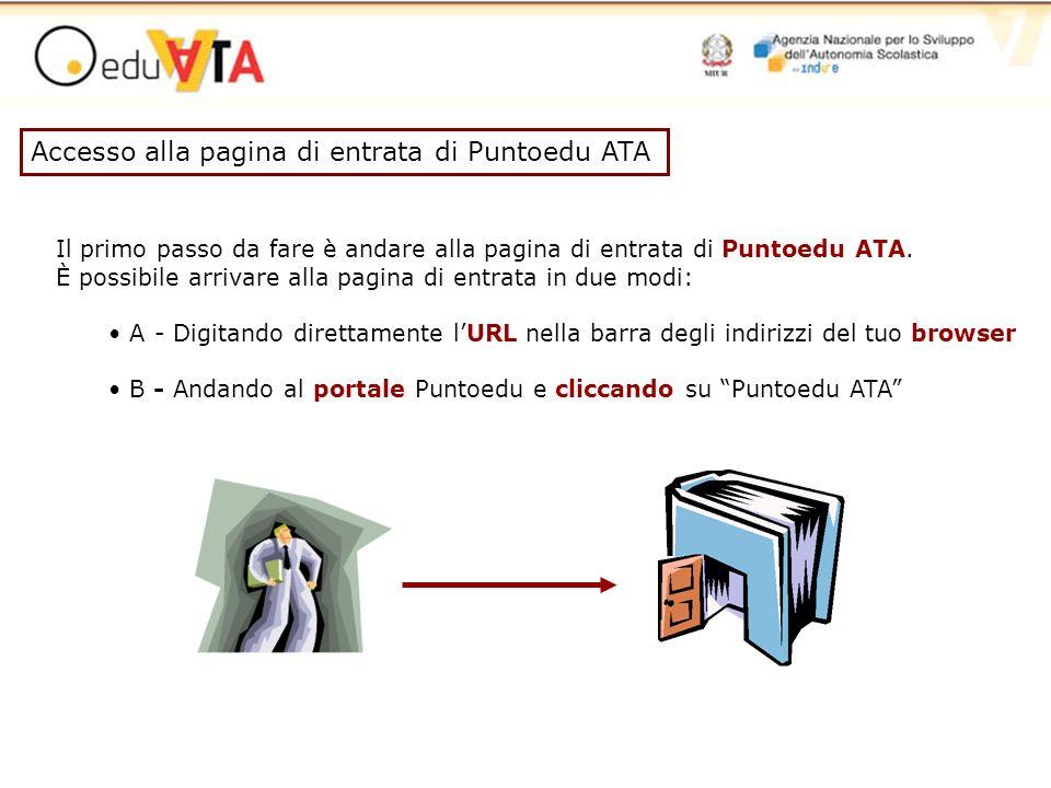 Accesso alla pagina di entrata di Puntoedu ATA Il primo passo da fare è andare alla pagina di entrata di Puntoedu ATA. È possibile arrivare alla pagin