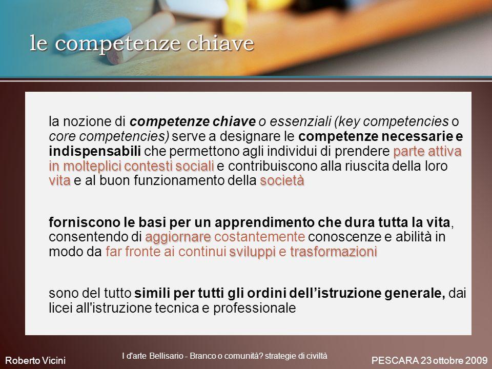 le competenze chiave parte attiva in molteplici contesti sociali vitasocietà la nozione di competenze chiave o essenziali (key competencies o core com