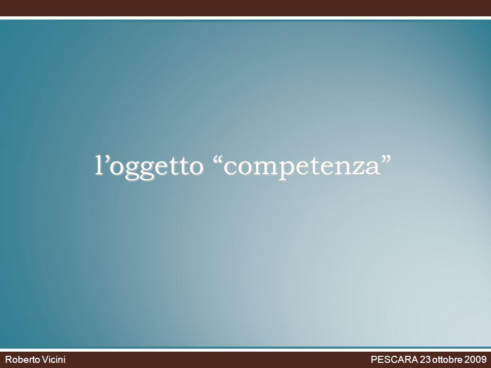 loggetto competenza Roberto Vicini PESCARA 23 ottobre 2009
