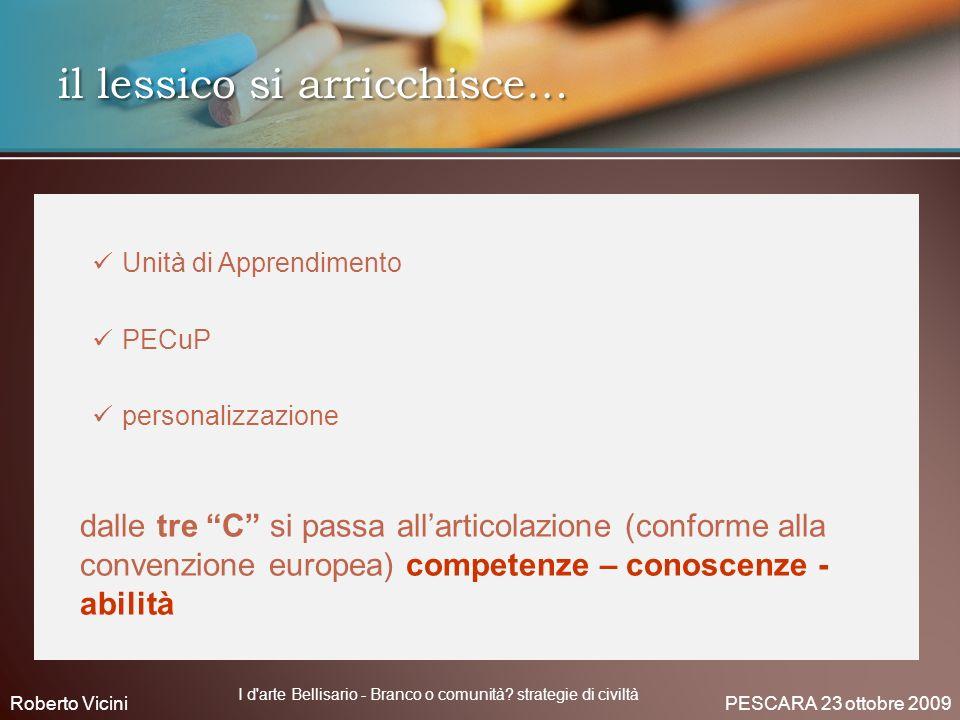 Unità di Apprendimento PECuP personalizzazione dalle tre C si passa allarticolazione (conforme alla convenzione europea) competenze – conoscenze - abi