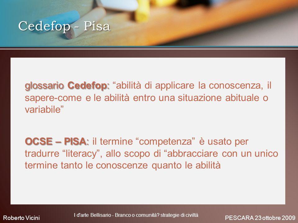 glossario Cedefop: glossario Cedefop: abilità di applicare la conoscenza, il sapere-come e le abilità entro una situazione abituale o variabile OCSE –