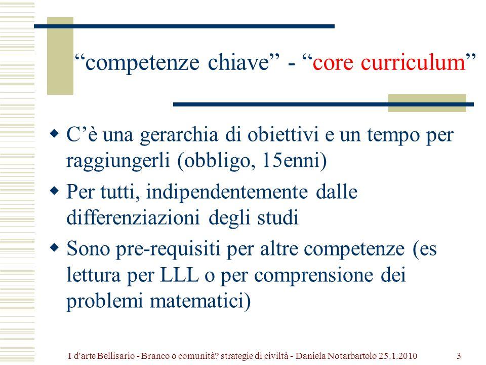 Parte prima Competenze e misurazione, o degli scopi dellistruzione