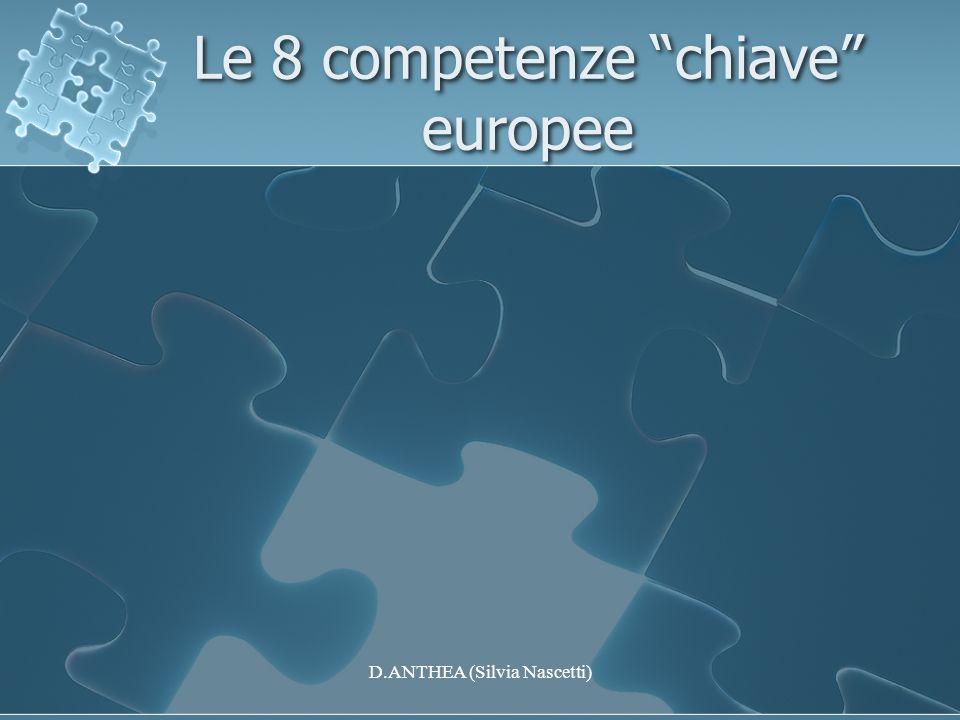Le 8 competenze chiave europee D.ANTHEA (Silvia Nascetti)