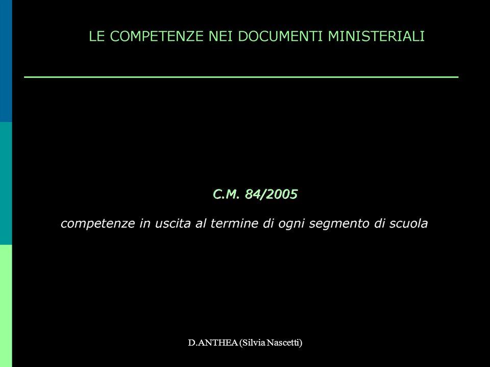 LE COMPETENZE (COMP) >. >. D.ANTHEA (Silvia Nascetti)