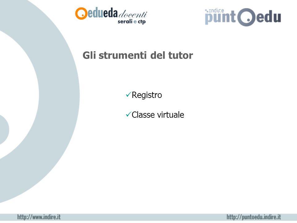 Gli strumenti del tutor Registro Classe virtuale
