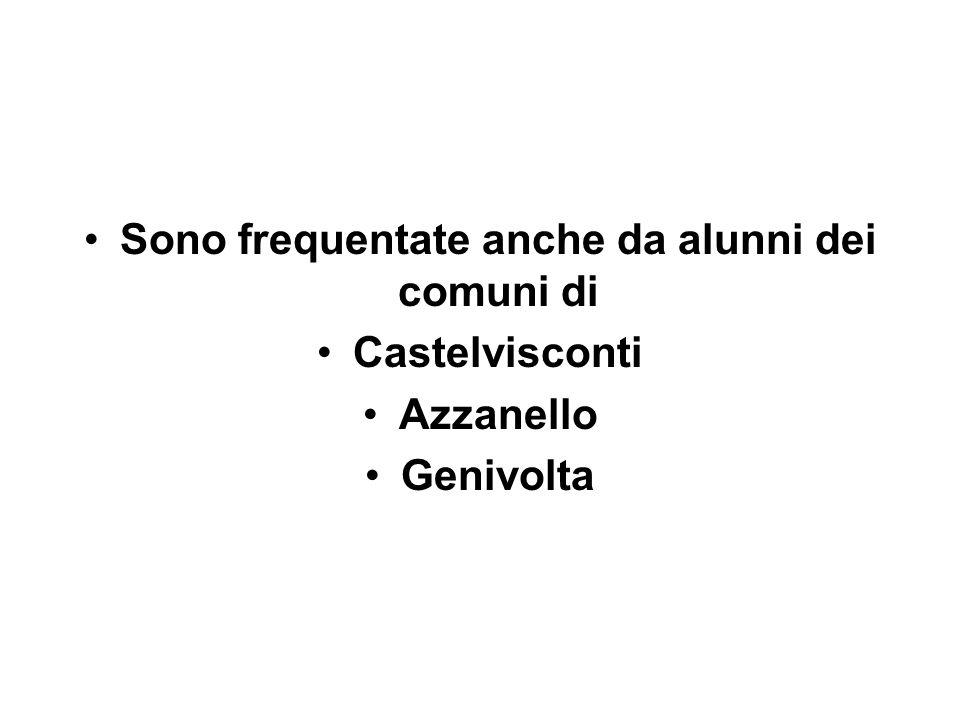 Sono frequentate anche da alunni dei comuni di Castelvisconti Azzanello Genivolta