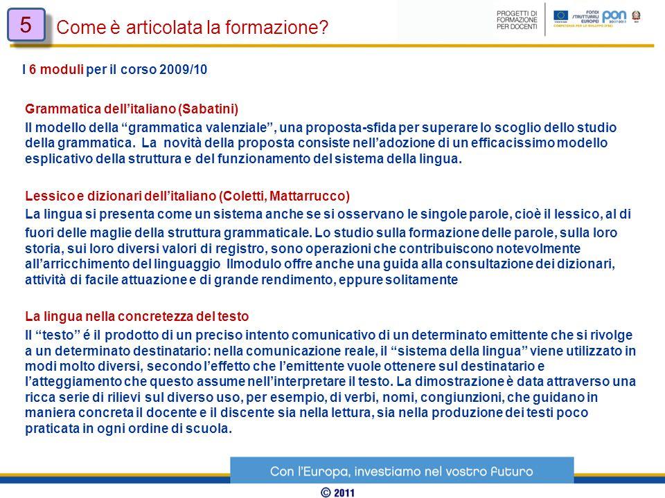 Grammatica dellitaliano (Sabatini) Il modello della grammatica valenziale, una proposta-sfida per superare lo scoglio dello studio della grammatica. L