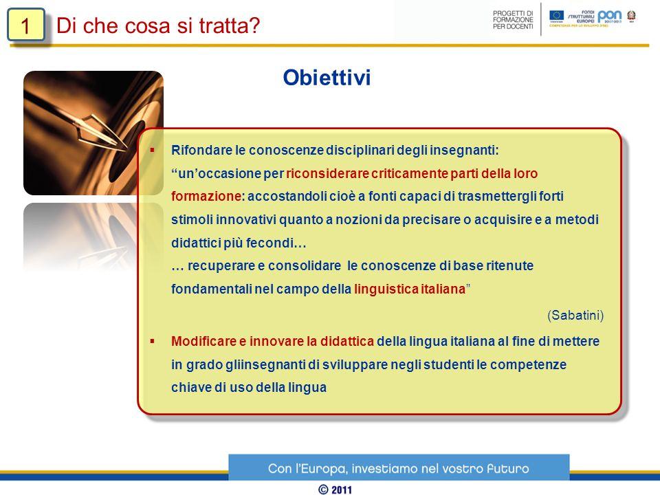 Di che cosa si tratta? 1 1 Destinatari Docenti di italiano della scuola secondaria di I GRADO