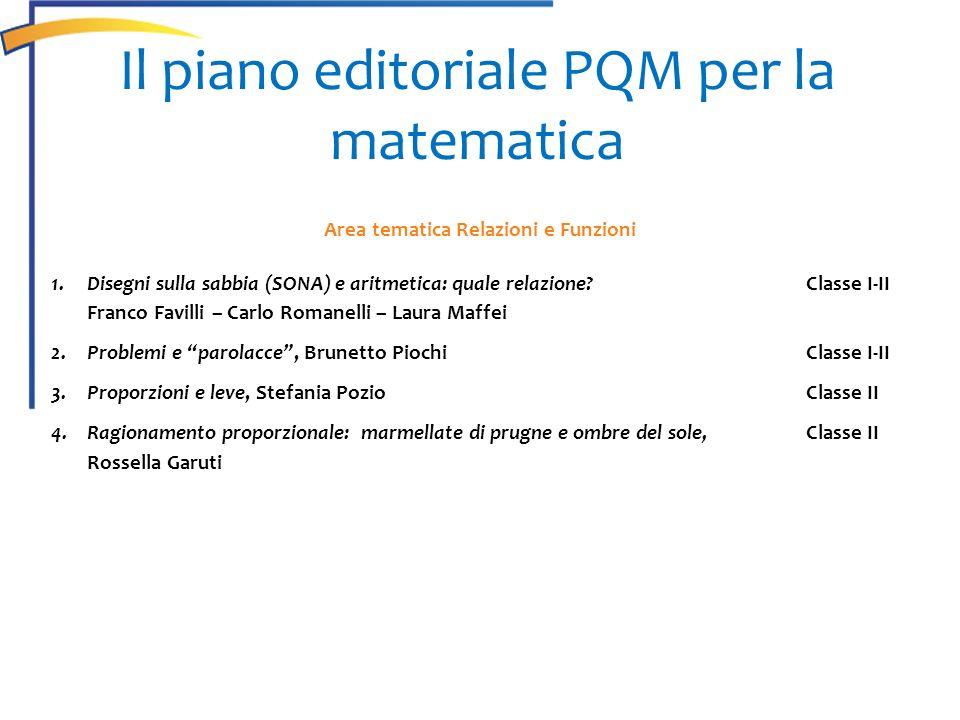Area tematica Relazioni e Funzioni 1.Disegni sulla sabbia (SONA) e aritmetica: quale relazione? Classe I-II Franco Favilli – Carlo Romanelli – Laura M