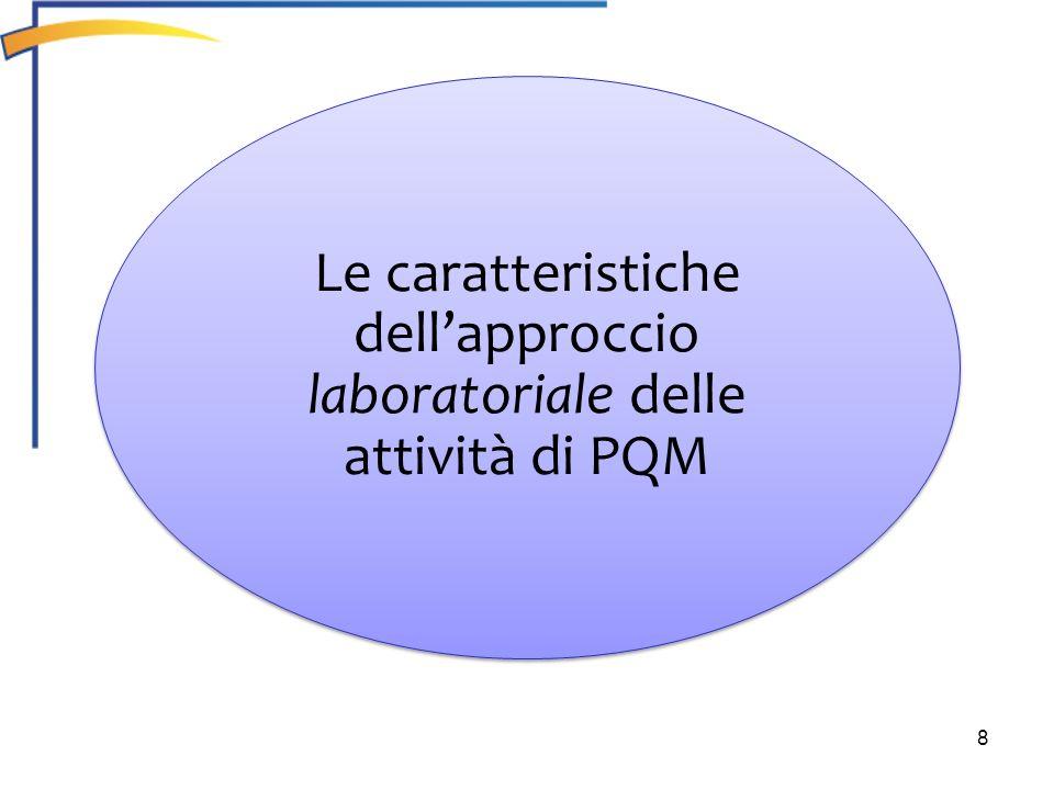 8 Le caratteristiche dellapproccio laboratoriale delle attività di PQM Le caratteristiche dellapproccio laboratoriale delle attività di PQM