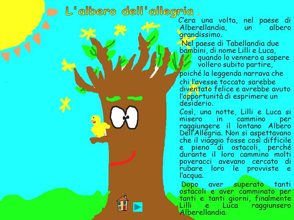 Cera una volta, nel paese di Alberellandia, un albero grandissimo. Nel paese di Tabellandia due bambini, di nome Lilli e Luca, quando lo vennero a sap
