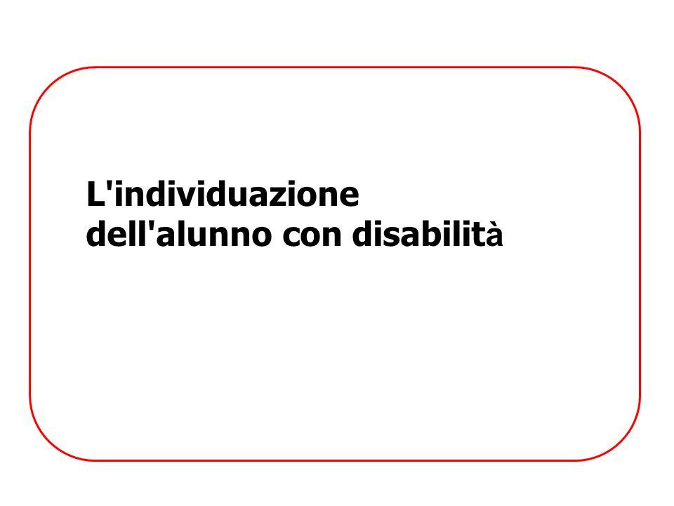 L'individuazione dell'alunno con disabilit à