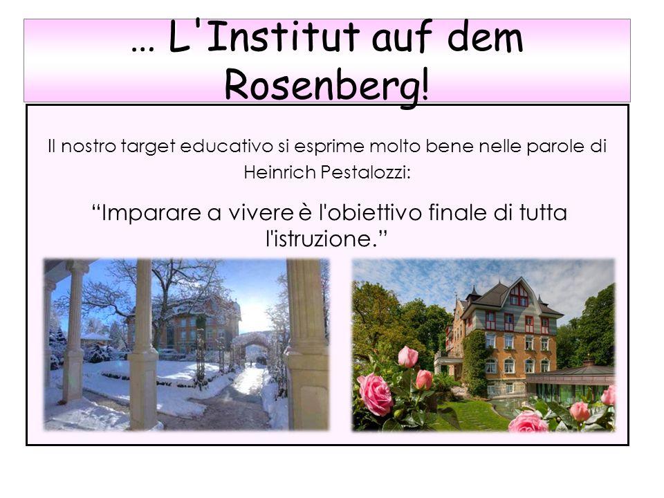 Il nostro target educativo si esprime molto bene nelle parole di Heinrich Pestalozzi: Imparare a vivere è l'obiettivo finale di tutta l'istruzione. …
