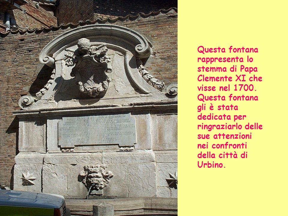 Ecco la statua di Papa Albani: Clemente XI