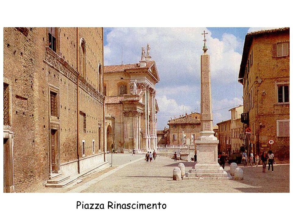 La foto raffigura la pietra dove venivano macinati i colori per la pittura nella bottega di Giovanni Santi.