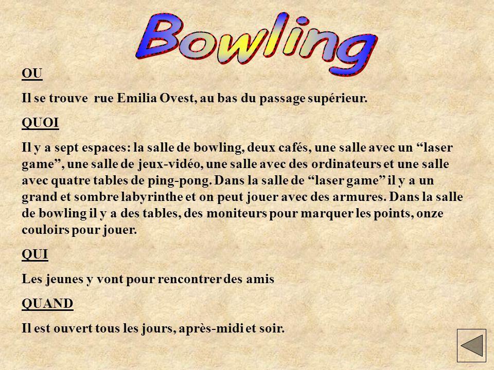 Dove Il Bowling si trova in via Emilia Ovest sul cavalcavia della ferrovia.