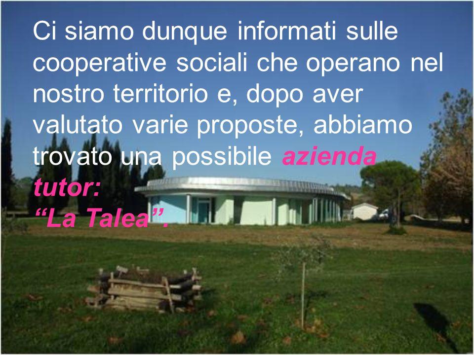 Ci siamo dunque informati sulle cooperative sociali che operano nel nostro territorio e, dopo aver valutato varie proposte, abbiamo trovato una possib