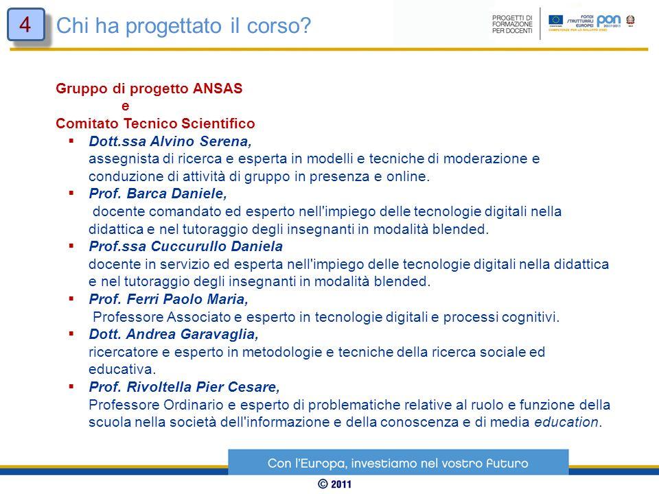 Gruppo di progetto ANSAS e Comitato Tecnico Scientifico Dott.ssa Alvino Serena, assegnista di ricerca e esperta in modelli e tecniche di moderazione e