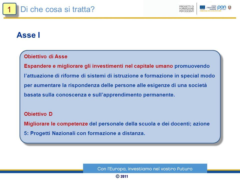 Obiettivo di Asse Espandere e migliorare gli investimenti nel capitale umano promuovendo lattuazione di riforme di sistemi di istruzione e formazione