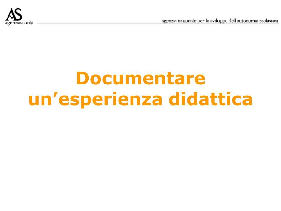 Documentare unesperienza didattica
