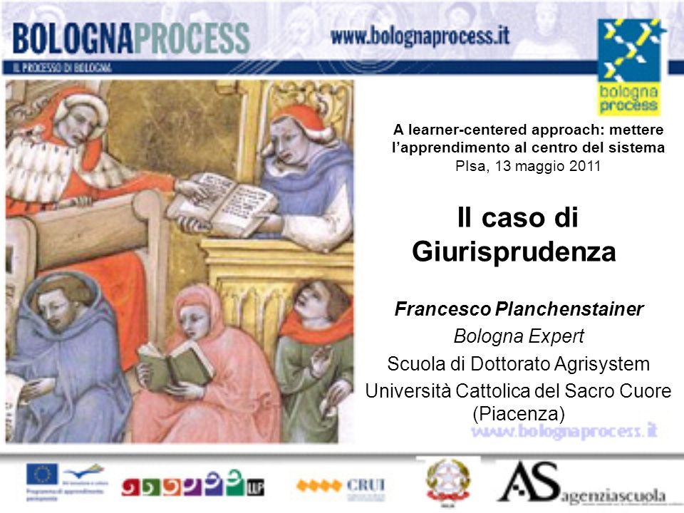 Il caso di Giurisprudenza Francesco Planchenstainer Bologna Expert Scuola di Dottorato Agrisystem Università Cattolica del Sacro Cuore (Piacenza) A le