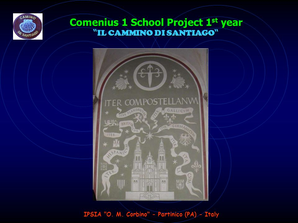 Comenius 1 School Project 1 st year IL CAMMINO DI SANTIAGO Comenius 1 School Project 1 st year IL CAMMINO DI SANTIAGO