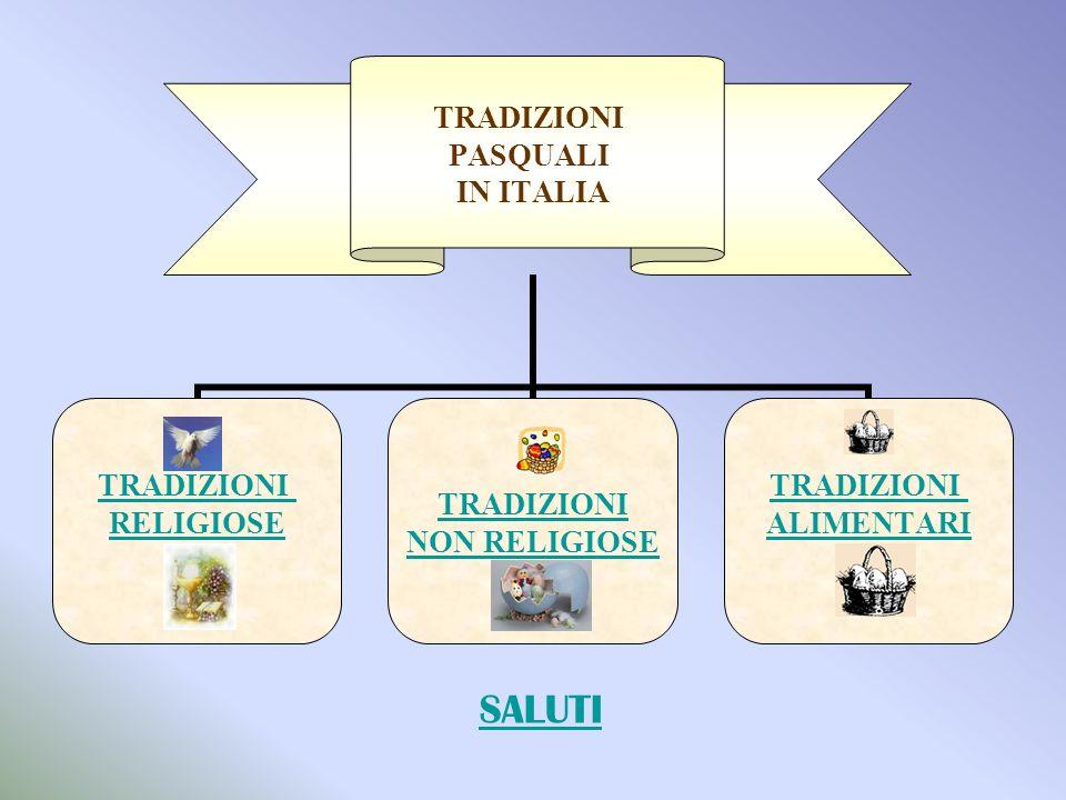 TRADIZIONI PASQUALI IN ITALIA TRADIZIONI RELIGIOSE TRADIZIONI NON RELIGIOSE TRADIZIONI ALIMENTARI SALUTI