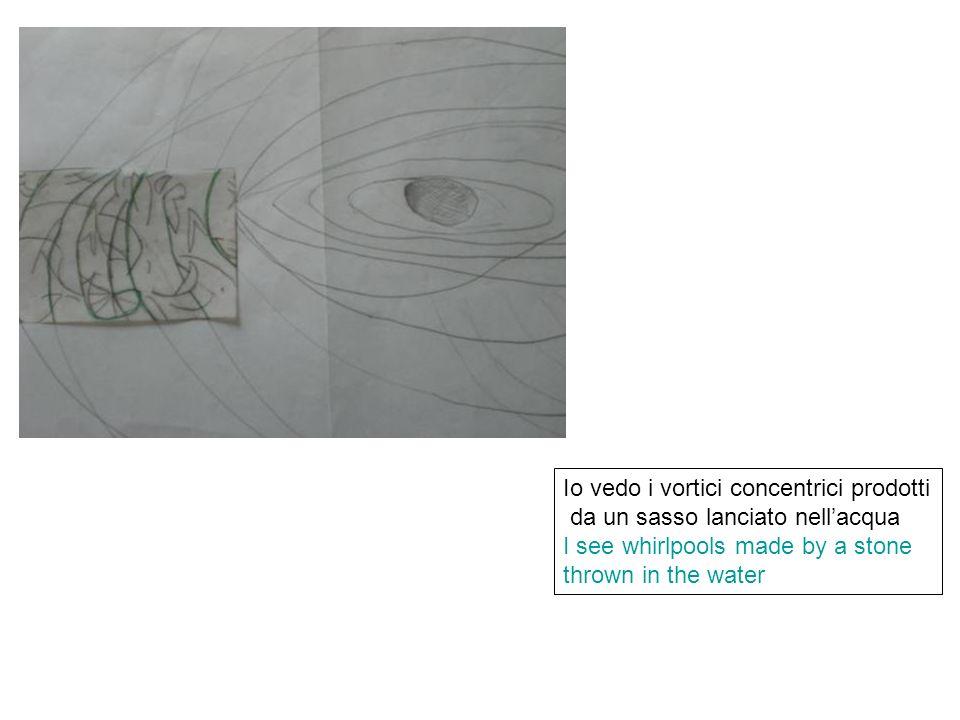Io vedo i vortici concentrici prodotti da un sasso lanciato nellacqua I see whirlpools made by a stone thrown in the water