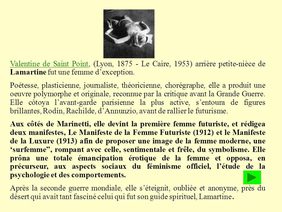 Alcune donne reagirono vivacemente e Valentine de Saint- Point pubblicò nel 1912 il