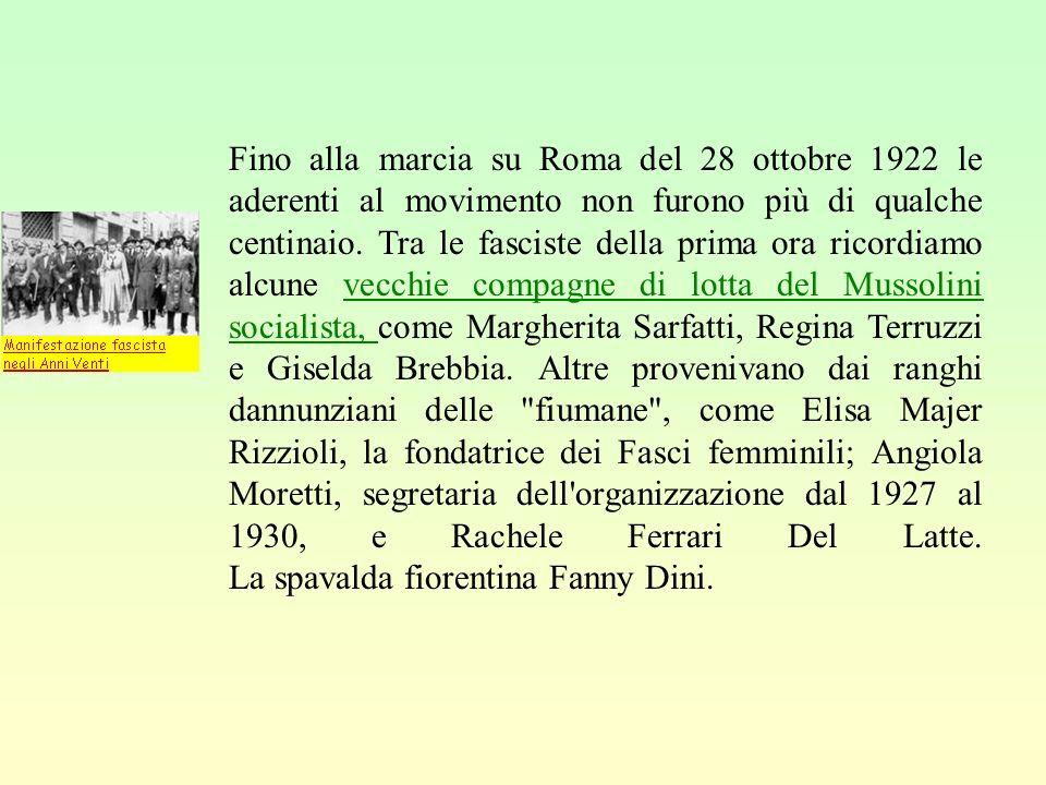 Il clichè della donna moderna nasce in Italia con gli anni del regime fascista. Prima di allora la condizione femminile non era mai stata parte integr