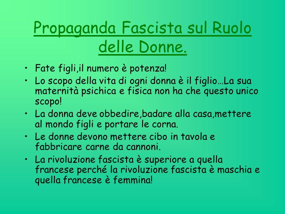 Le donne durante il periodo fascista Index 1.Dalle parole sulle donne, al concetto delle donne. FRASIDalle parole sulle donne, al concetto delle donne