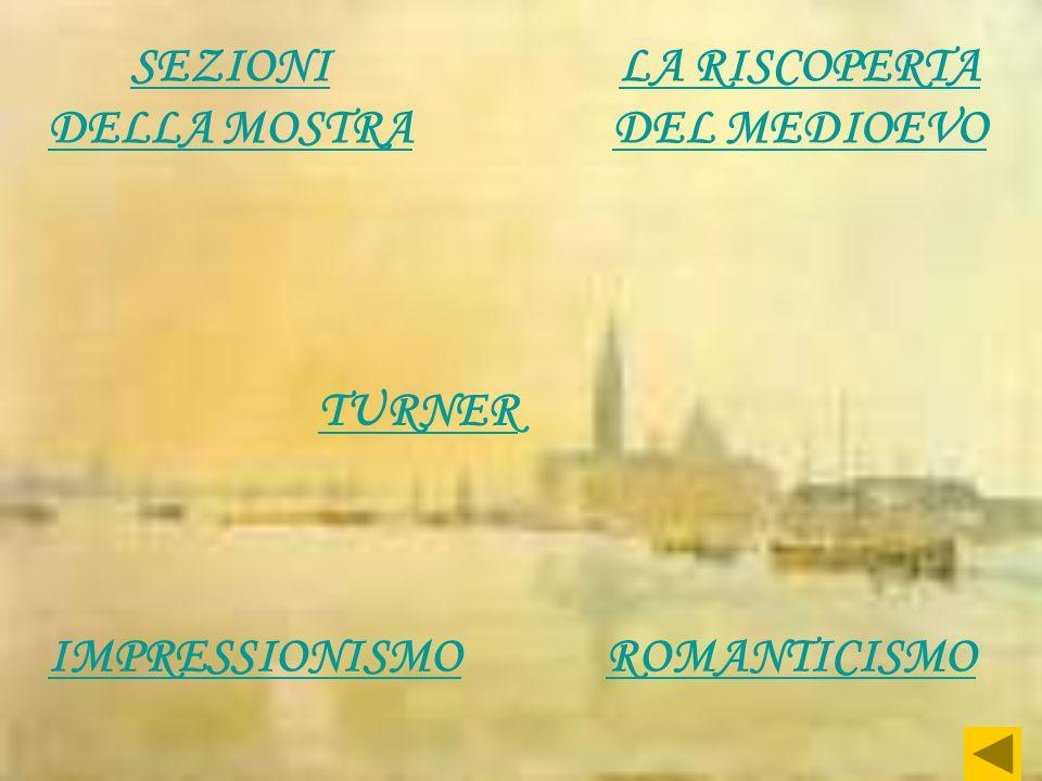 SEZIONE 1 Constable e Turner SEZIONE 5 Il giardino SEZIONE 4 Paesaggi dellimpressionismo SEZIONE 3 Da Barbizon al primo paesaggio impressionista SEZIONE 2 DallAccademia al primo plein air