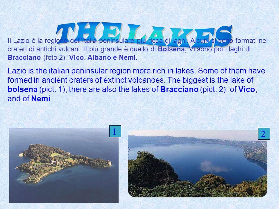 Il Lazio è la regione dellItalia peninsulare più ricca di laghi. Alcuni si sono formati nei crateri di antichi vulcani. Il più grande è quello di Bols