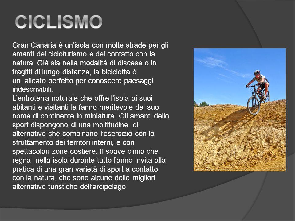 Gran Canaria è unisola con molte strade per gli amanti del cicloturismo e del contatto con la natura.