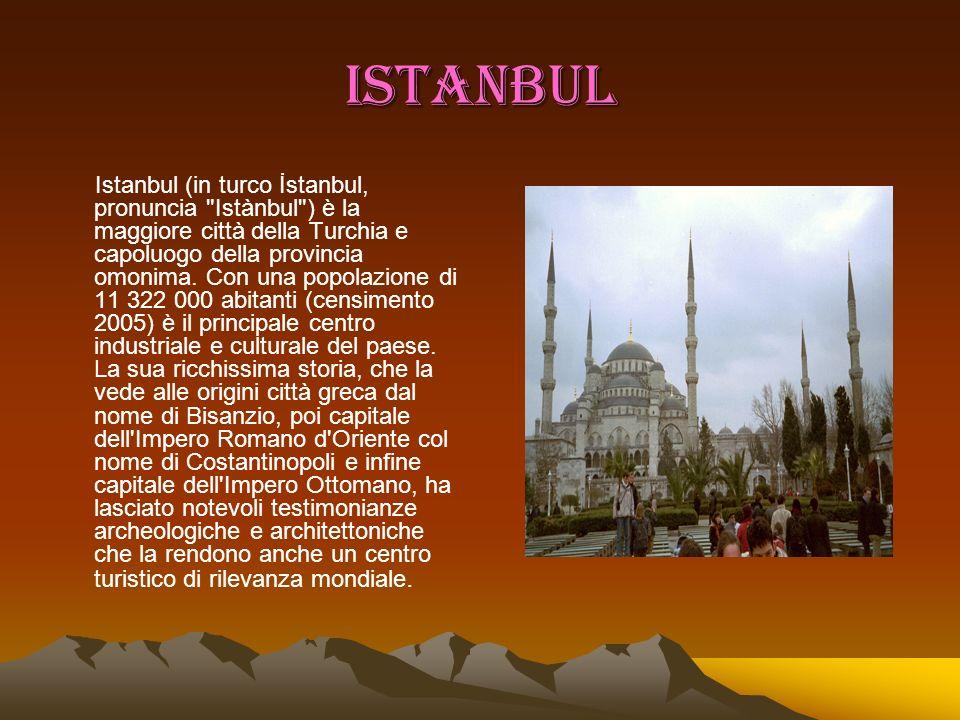 BURSA La città di Bursa, a sud-est della Regione del Mar di Marmara, si avvolge attorno alle falde del Monte Uludag (Monte Olimpo della Misia, alta 2.443 m.).
