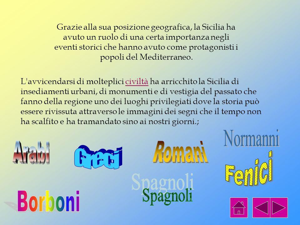 STORIA DELLA SICILIA La storia della nostra isola è molto ricca di vicende e culture diverse che si sono susseguite nel corso dei secoli. Ogni popolaz